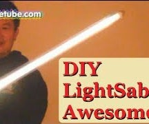 How to make your own CFL Lightsaber Cheap and Fun! DIY Light Saber - The World's First Portable CFL Lightsaber