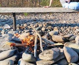 如何建造海滩火灾