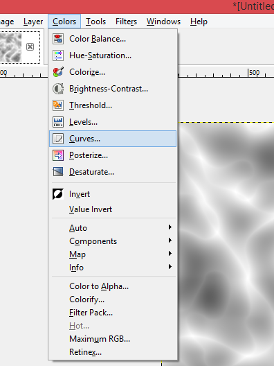 """Picture of Select """"Curves"""" Under the """"Colors"""" Tab"""