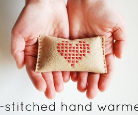 Cross-Stitched Hand Warmer