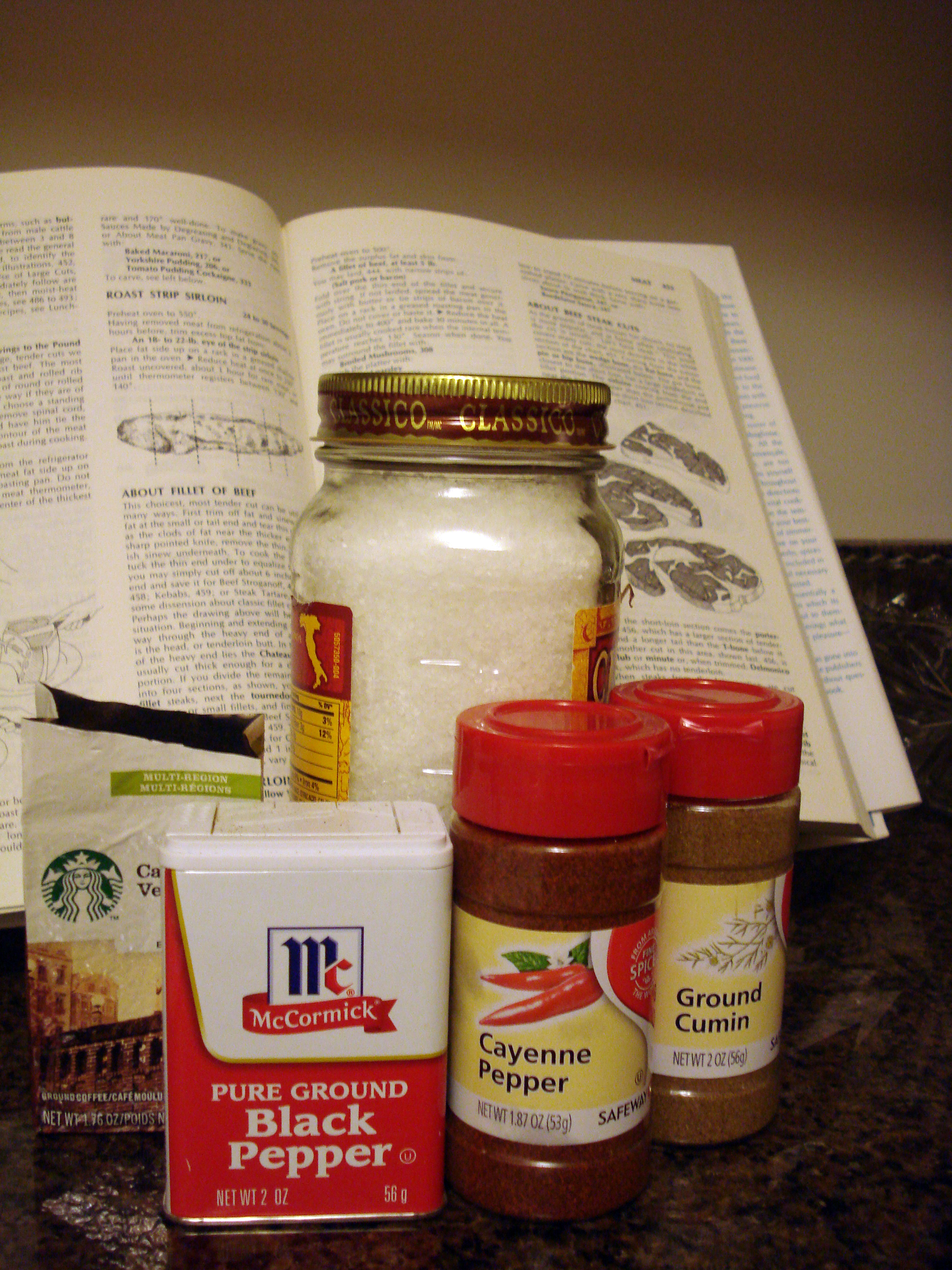 Picture of Coffee Rub Ingredients