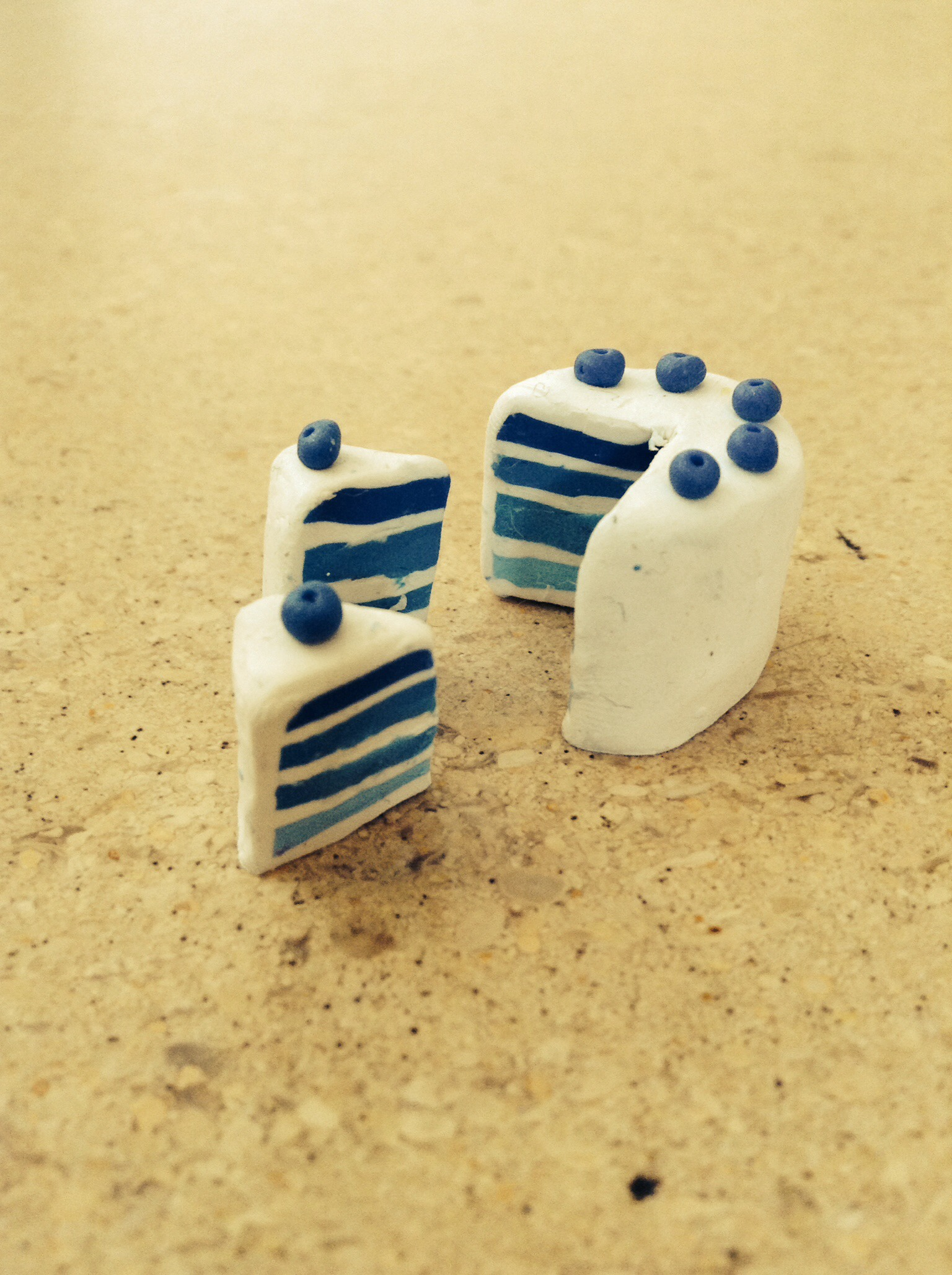 Picture of Polymer Clay Easy Blueberry Cake