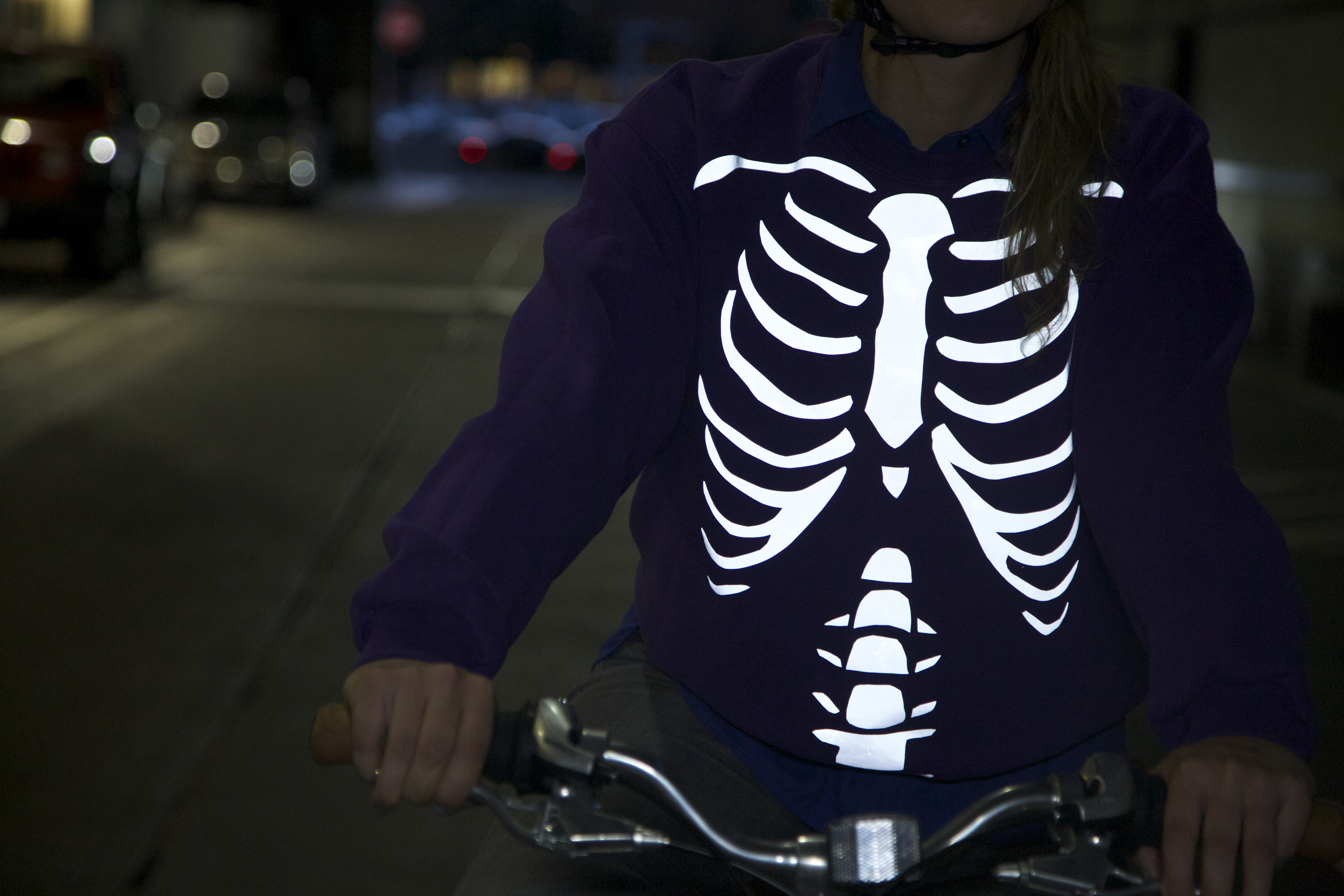 Picture of DIY Reflective Cycling Sweatshirt - Skeleton and Japanese Demon