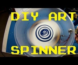 DIY Spin Art Machine With Speed Control Via Common Emitter Circuit