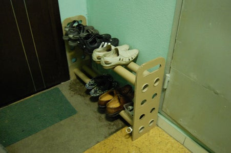 Shoe Shelves  Out of Paperboard