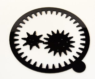 Lasercut Spirograph With Tinkercad