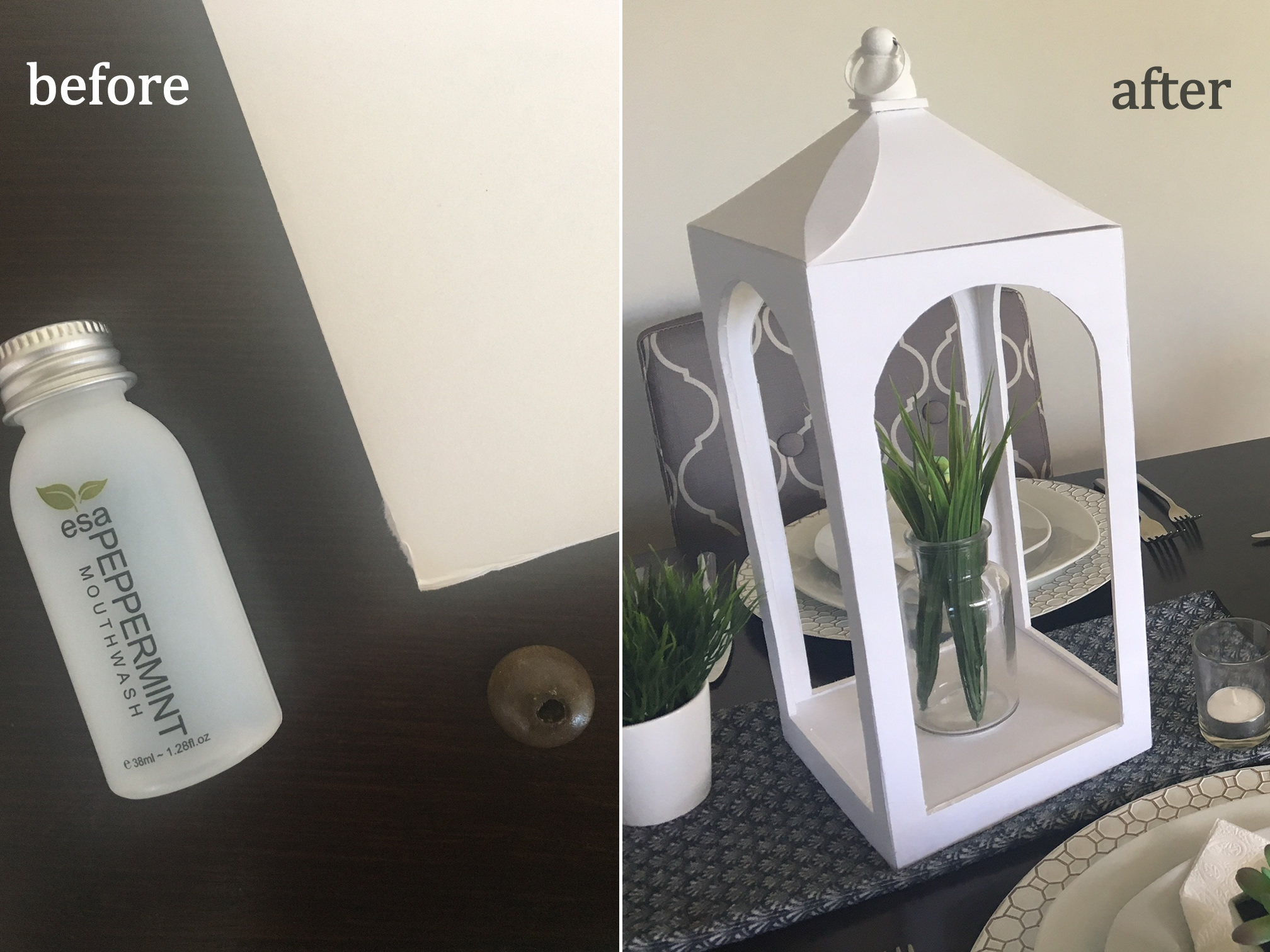 Picture of $3 Pottery Barn Lantern Knockoff