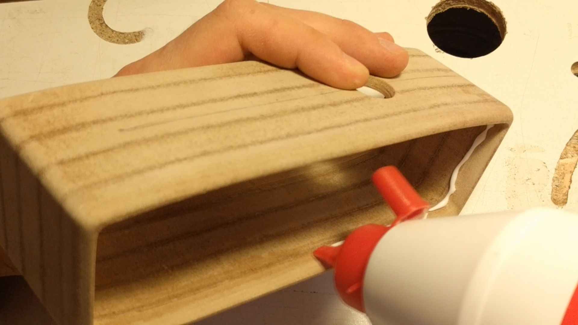 Picture of Gluing in the Plywood Panels