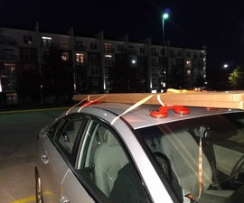DIY Dual Cup Suction Lifter Temporary Car Roof Rack