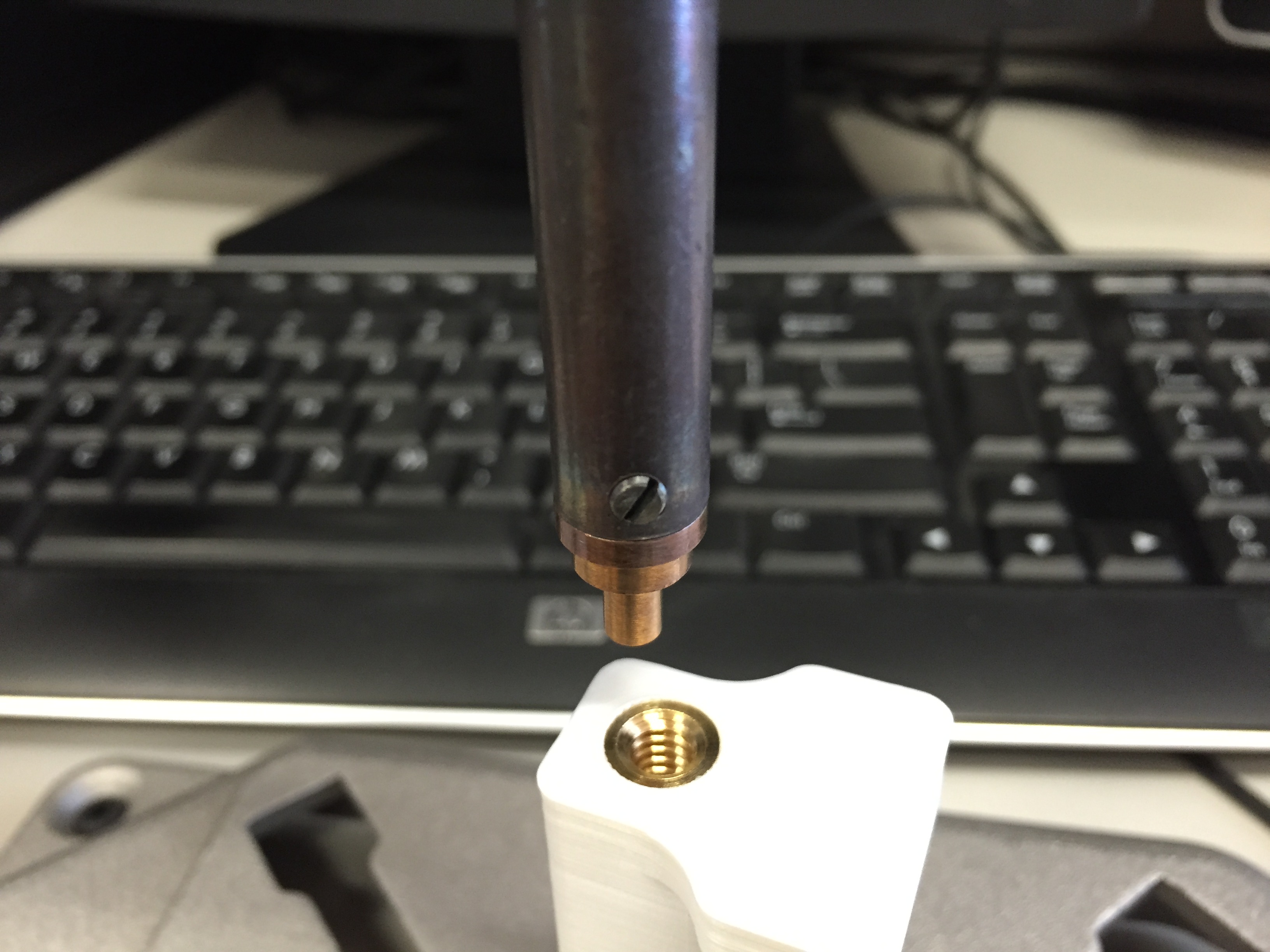 Picture of Assembly- 1: Melting Plastic With Brass.