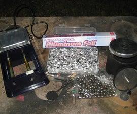 Making German Dark Aluminum Powder from Foil