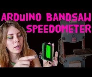 Arduino Bandsaw Speedometer
