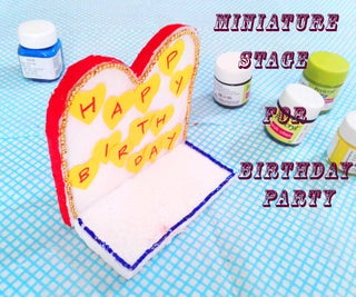 Simple Miniature Stage for Birthday Party