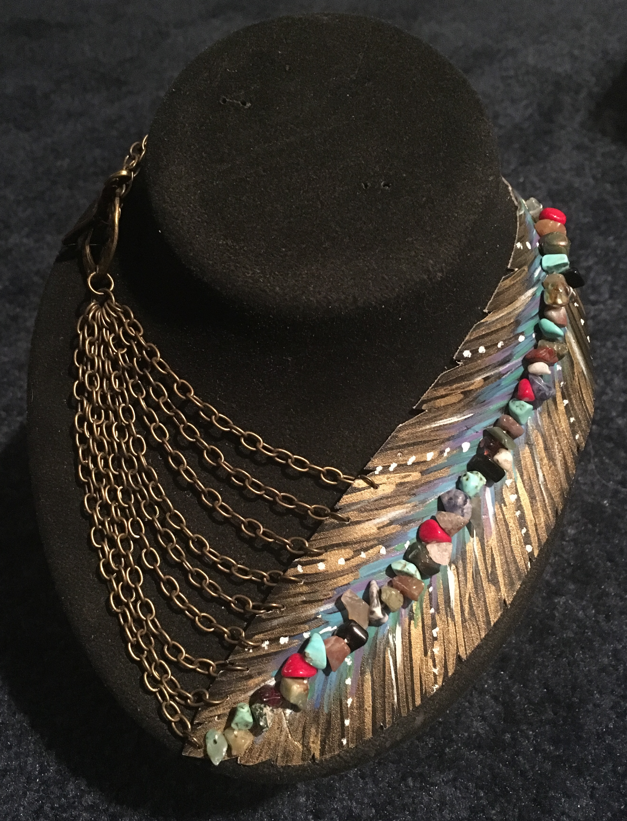 Picture of Leather Feather Necklace