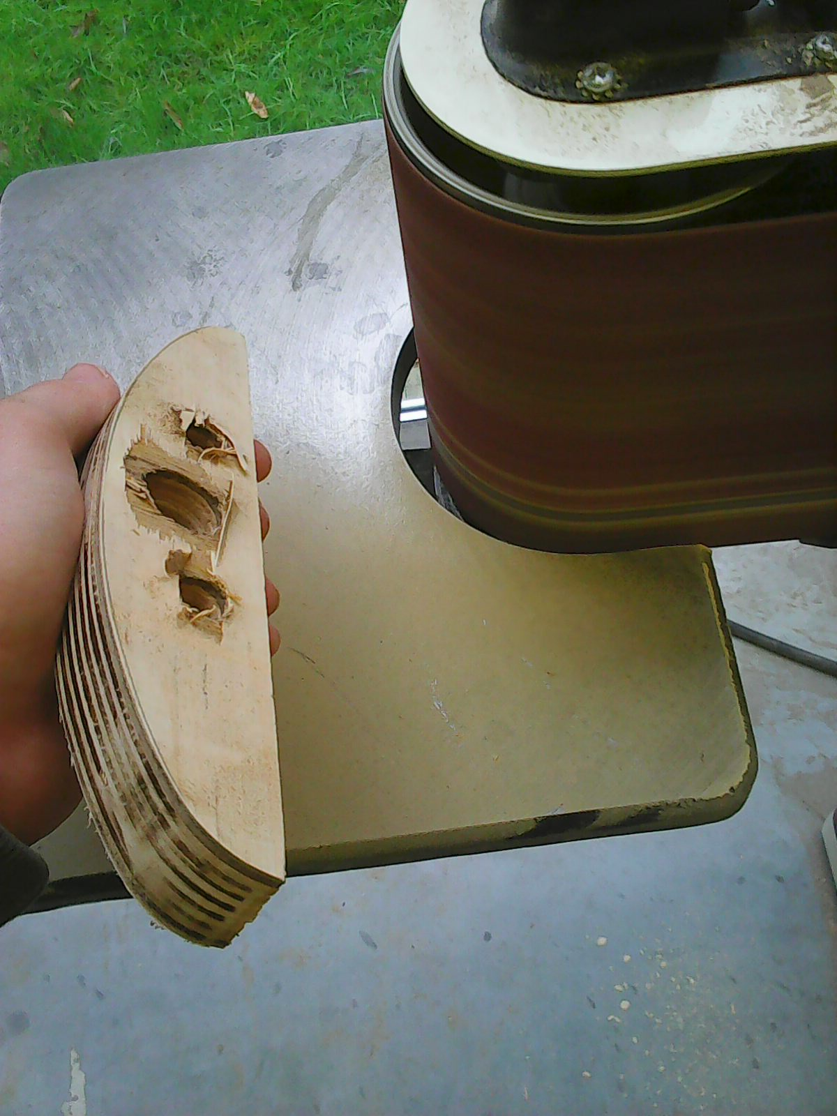 Picture of Sanding and Drilling the Laths (optional)