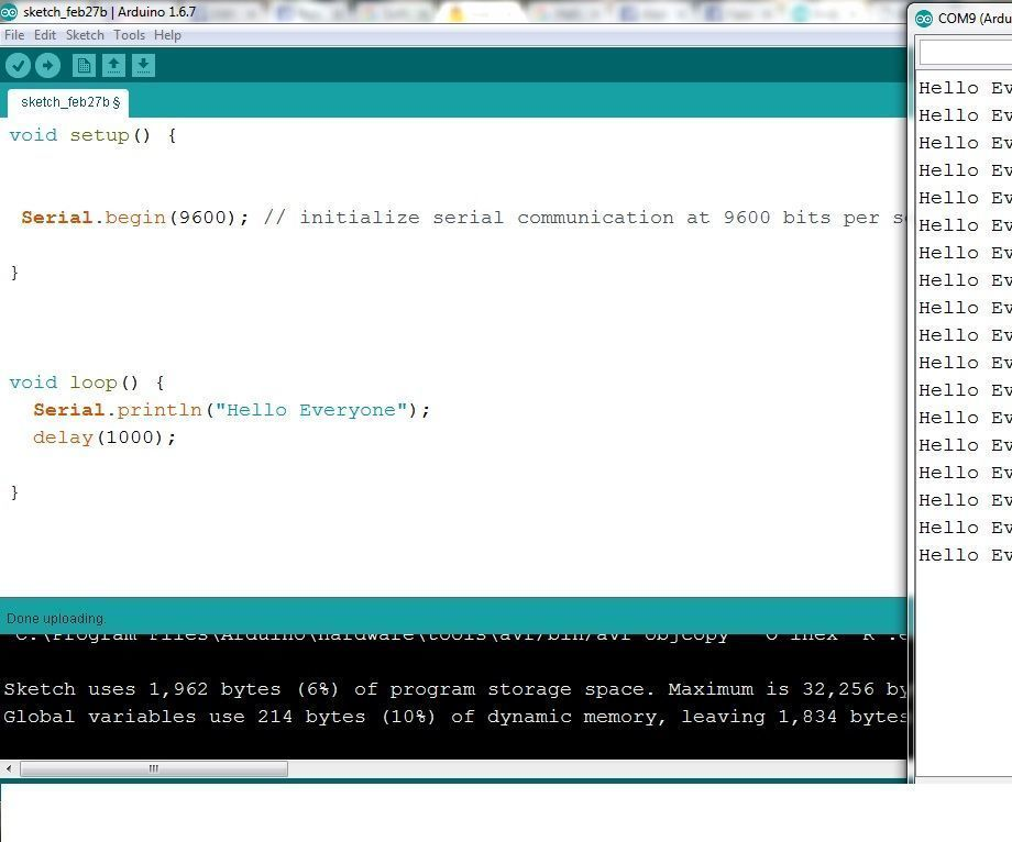Serial Communication Process in Arduino
