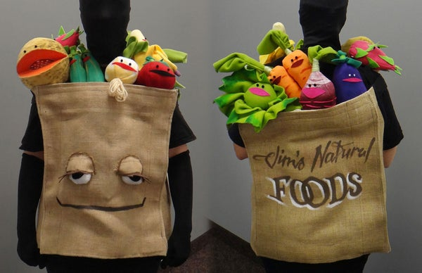 Grocery Bag of Muppet Fruit and Vegetables Costume