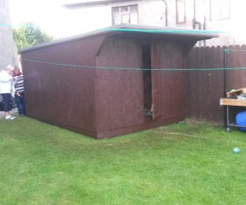 Wooden Pallet Shed 3.6m long  x 3.0m wide  x 2.4 ishhh m high