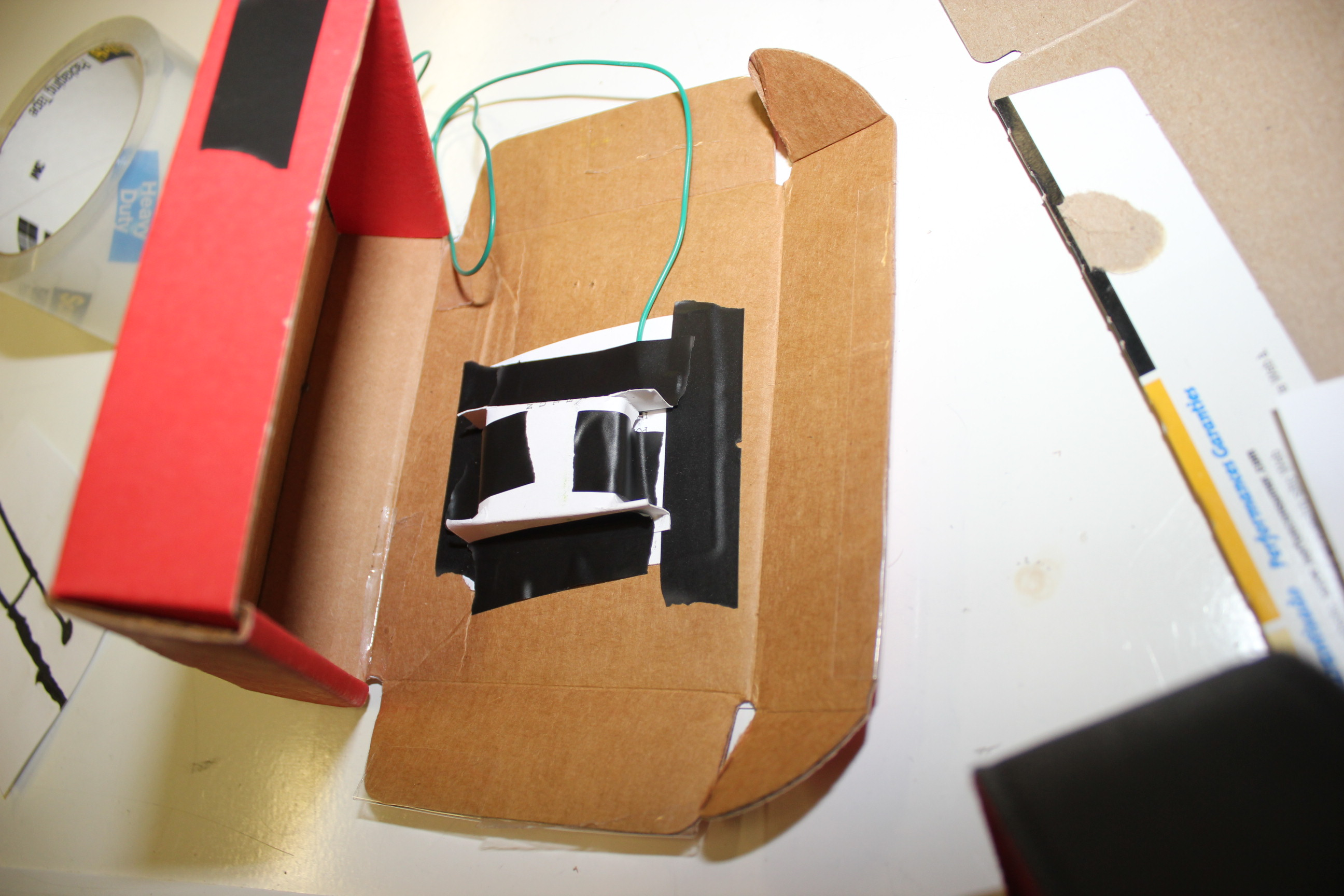 Picture of Step 007 - Tape the Box Inside the Larger Box