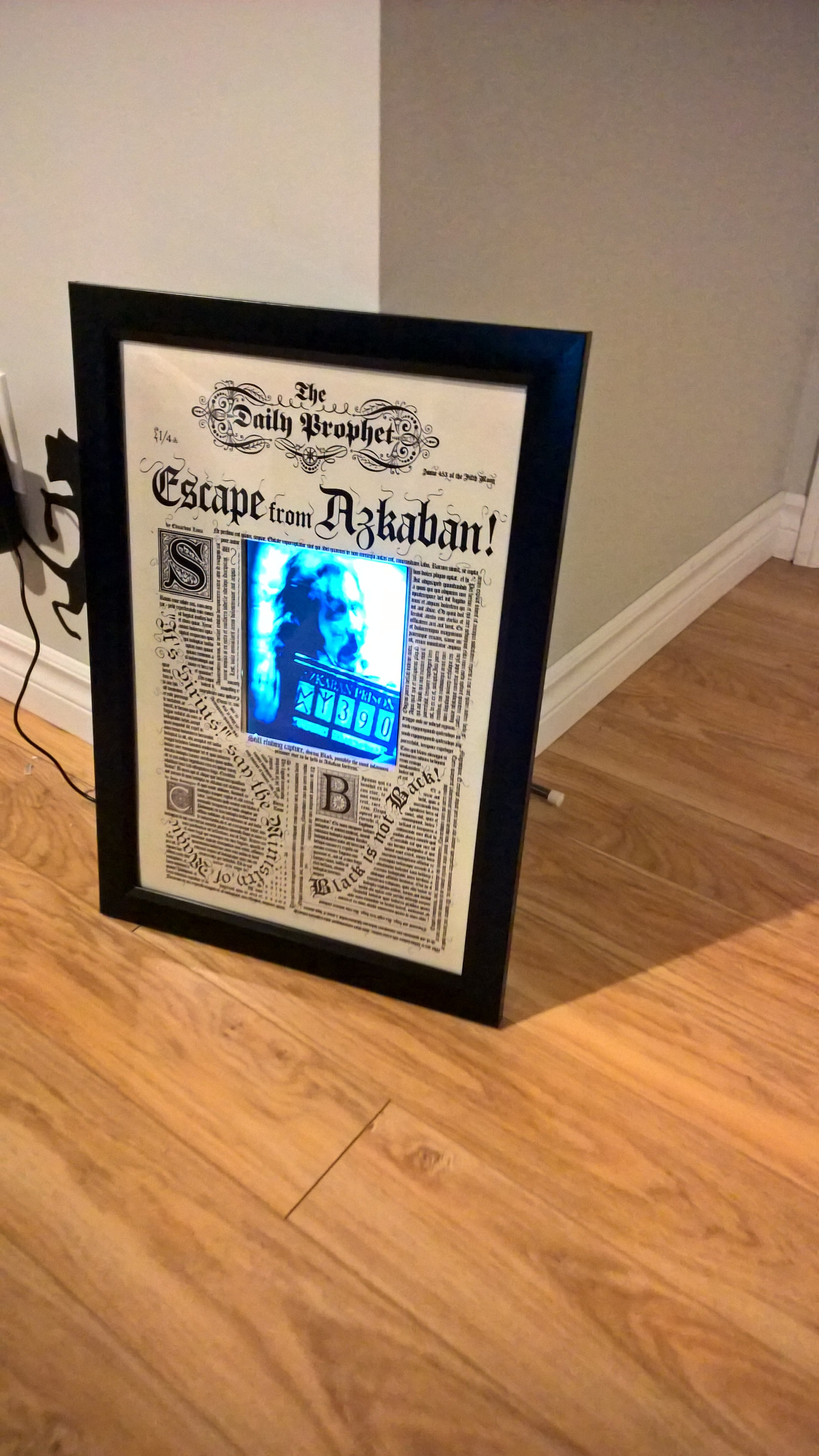 Picture of Moving Sirius Black Wanted Poster (Harry Potter)