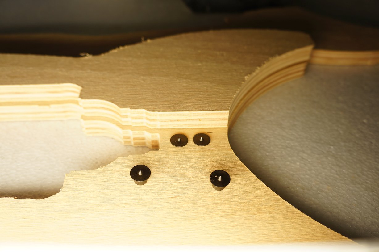 Picture of Drill the Dowel Pin Holes for the Rocket Fins
