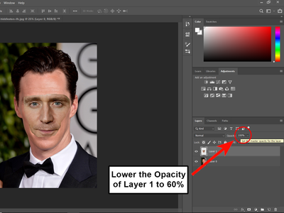 Lower the Pasted Face's Opacity