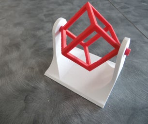 3D Printed Wire Frame Cube Spinner Desk Toy
