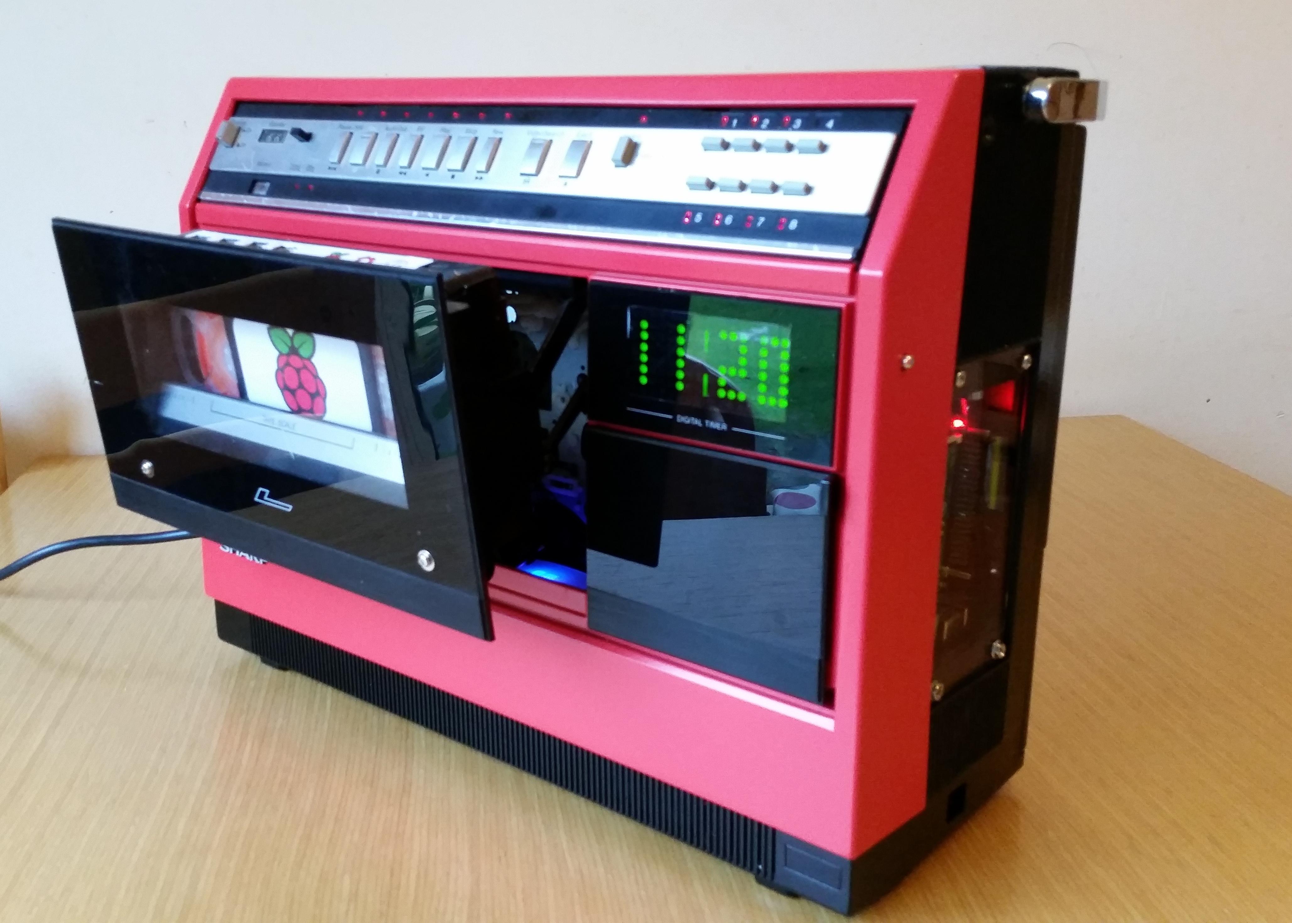 Picture of 1981 Portable VCR Raspberry PI Media Centre