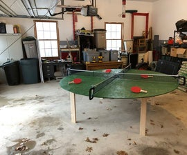 X-Pong Table: Four Person Circular Ping Pong Table