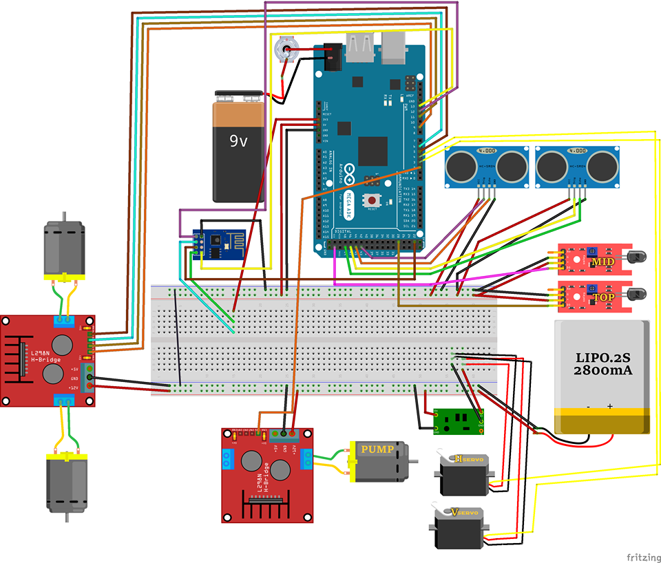 Picture of Wiring Components to Arduino