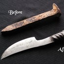 How to make a railroad spike knife?