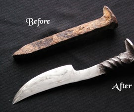 How to make a railroad spike knife?