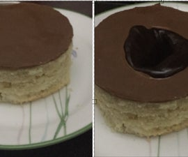 Lava Disc Cake in Microwave Oven