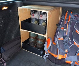 DiY Box for hiking boots in car trunk