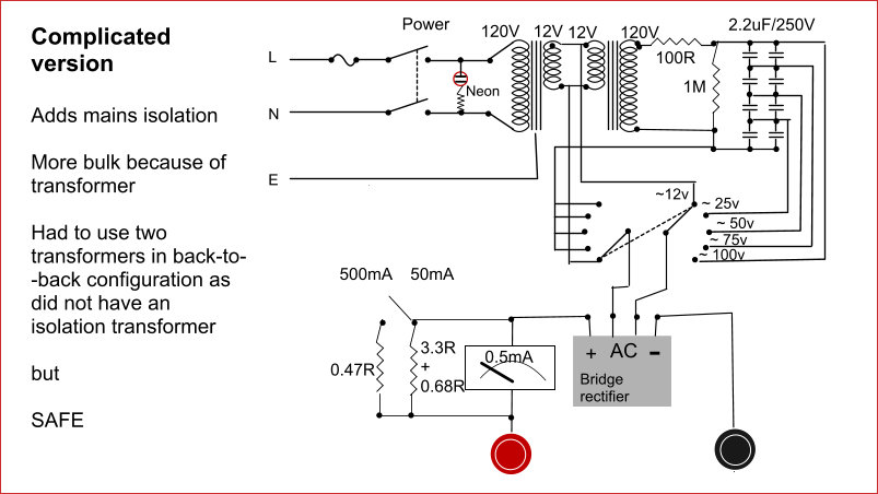 Picture of Power Supply With Passive Electronic Components Only (no Transistors, ICs, Regulator Chips!)