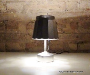 Lamp Made Out of an Italian Coffee Maker