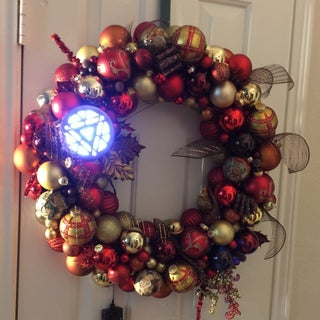 Lighted Tardis Ornament Wreath