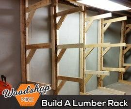 Free-Standing Lumber Rack