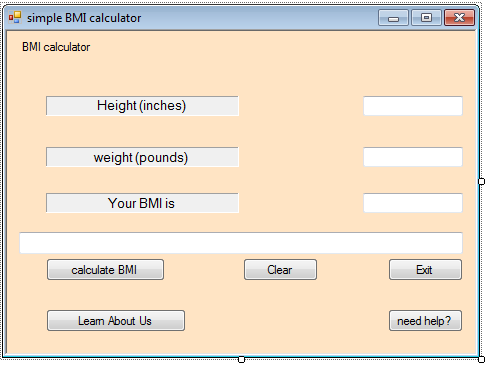 Picture of Design the Interface (labels and Textboxes)