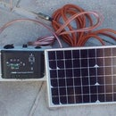 Small 12V Battery Solar Power Charging Rig For A Caravan or Camper