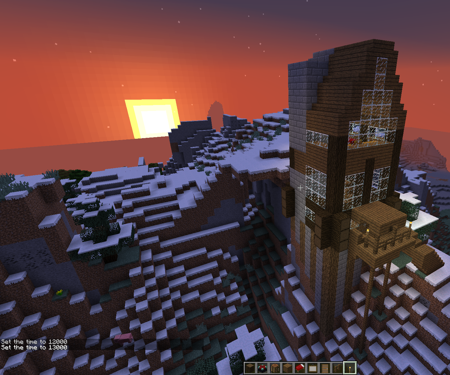 Minecraft Mountian House 16 Steps Instructables