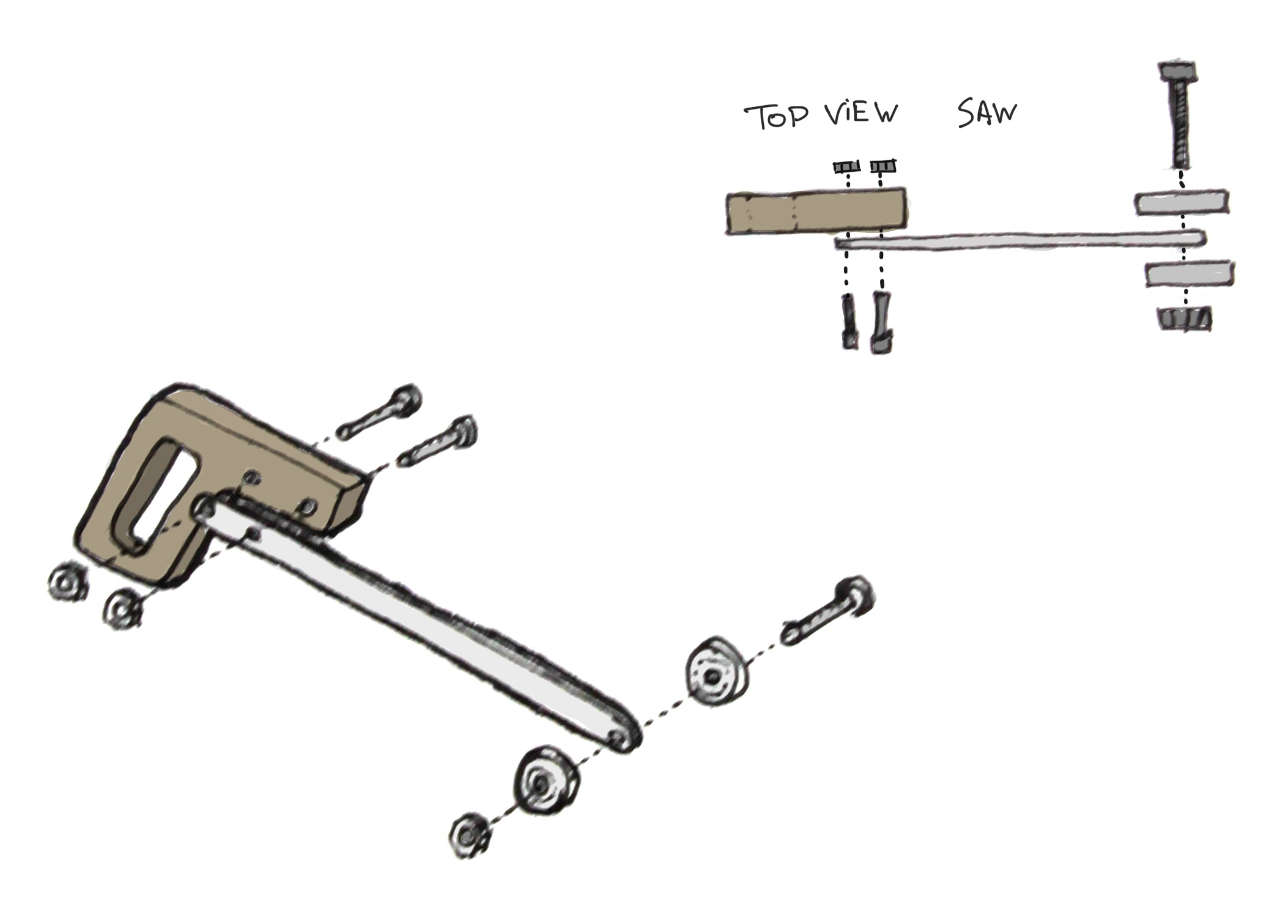 Picture of Assembling the Saw