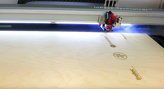 Laser Cutting the Wood