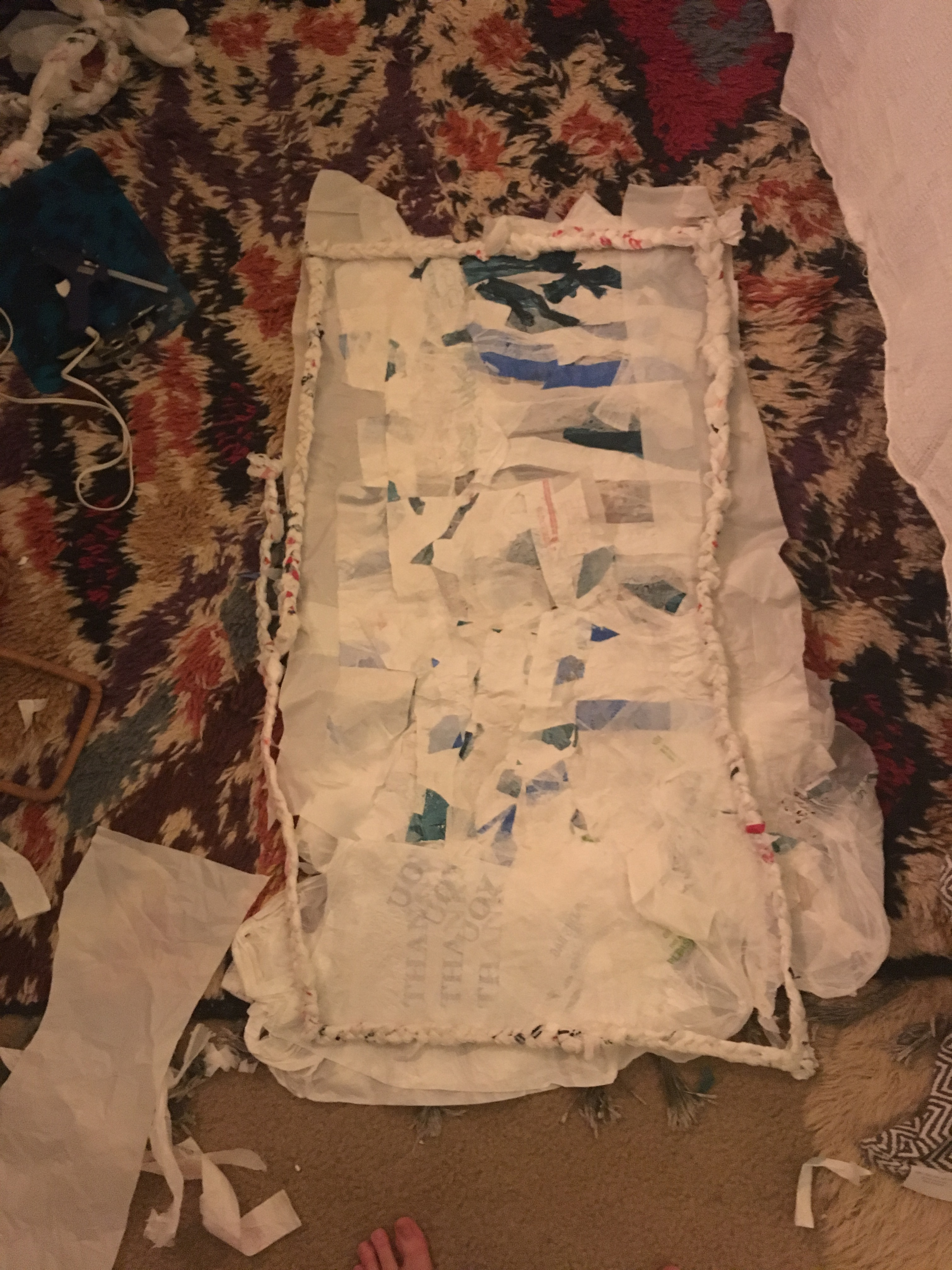 """Picture of Use Your Iron to """"quilt"""" the Pieces Together."""