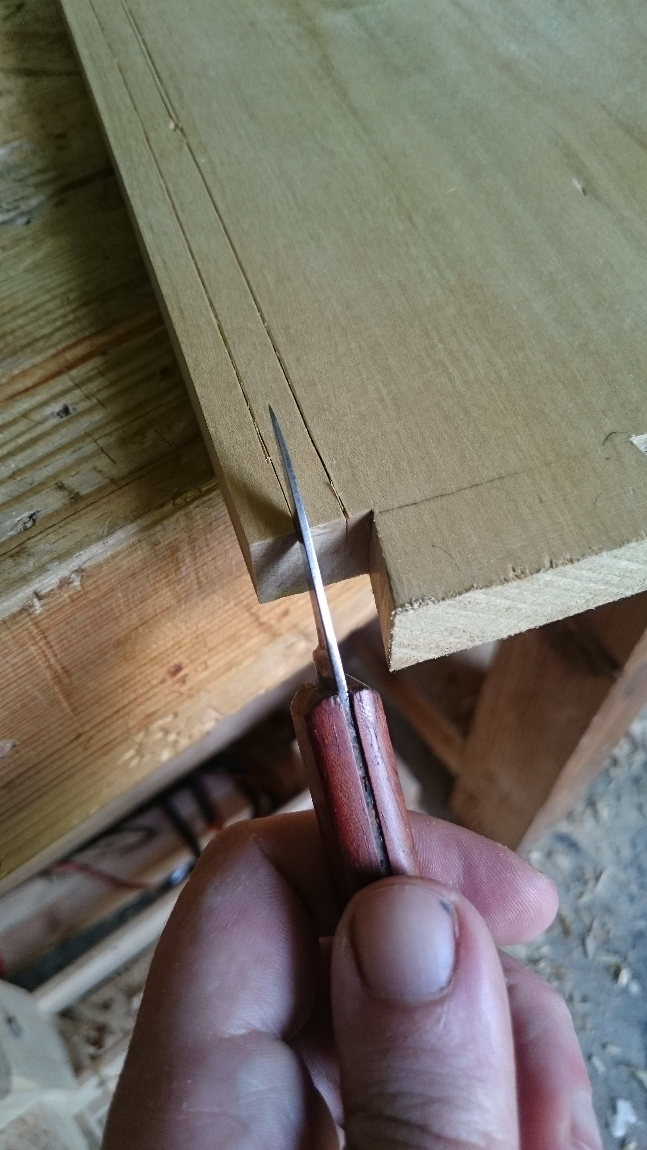 Picture of Marking and Cutting the Dados