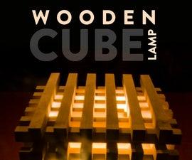 Wooden Cube Lamp