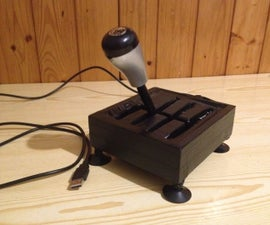 Gearbox for computer,made from old Joystick ( H-shifter )