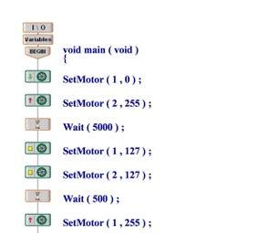 Simple Vex EasyC Program