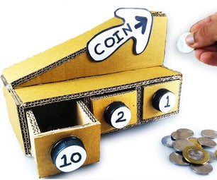 DIY Coin Sorting Machine / Self Sorting Coin Bank