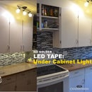 LED Tape - Under Cabinet Lighting - No soldering!